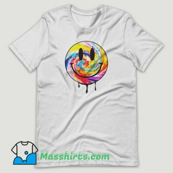 Acid Dripping Smiley Face Tie Dye T Shirt Design