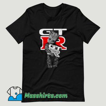Baby Groot Hug Mustang GTR T Shirt Design