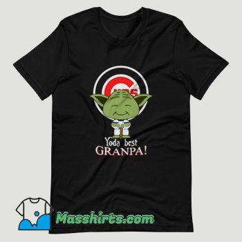Baby Yoda Chicago Cubs Best Grandpa T Shirt Design