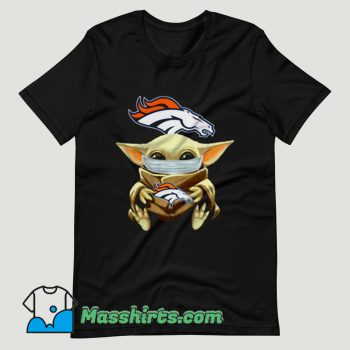 Baby Yoda Face Mask Denver Broncos T Shirt Design