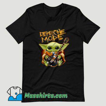 Baby Yoda Hug Depeche Mode Guitar T Shirt Design