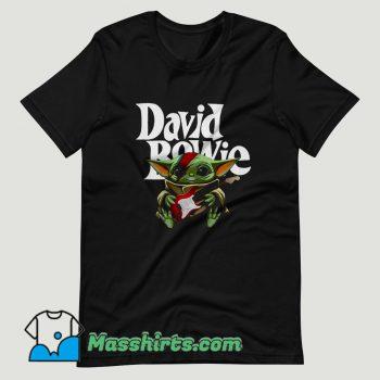 Baby Yoda Hug Guitar David Bowie T Shirt Design