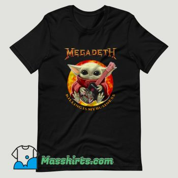 Baby Yoda Hug Guitar Megadeth Killing Is My Business T Shirt Design