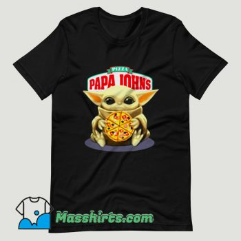 Baby Yoda Hug Pizza Papa Johns T Shirt Design