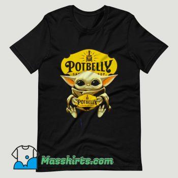 Baby Yoda Hug Potbelly Sandwich T Shirt Design