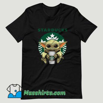 Baby Yoda Hug Starbucks T Shirt Design
