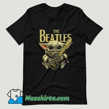 Baby Yoda Hugs The Beatles T Shirt Design