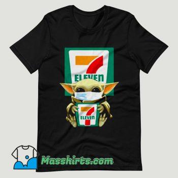 Baby Yoda Mask 7 Eleven Coronavirus T Shirt Design