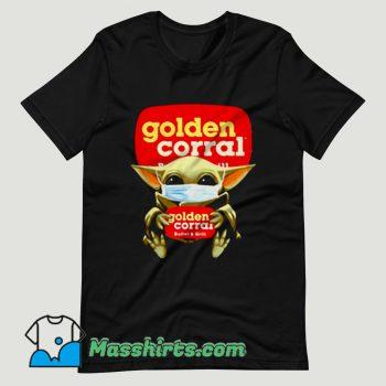 Baby Yoda Mask Golden Corral T Shirt Design