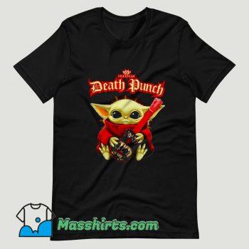Baby Yoda hug guitar Five Finger Death Punch T Shirt Design