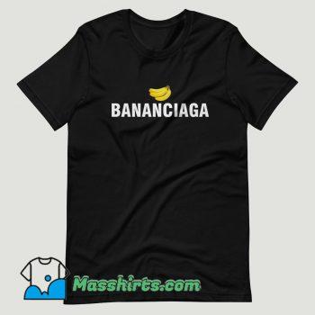 Bananaciaga Balenciaga Black T Shirt Design