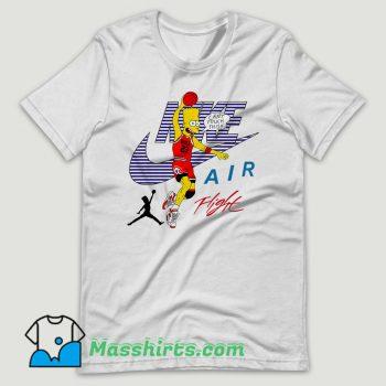 Bart Simpson Nike Air Flight Funny T Shirt Design