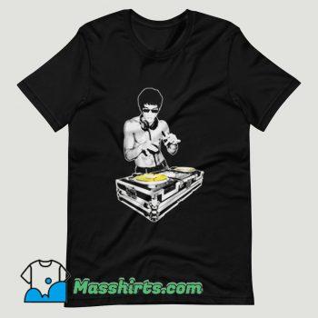 Bruce Lee DJ Kung Fu Funny T Shirt Design