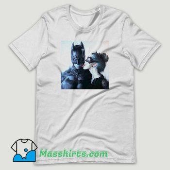 Catwoman Licking Batman T Shirt Design