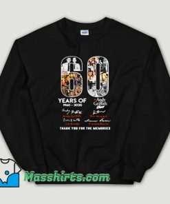 Cheap Andy Griffith Show 60 Years Birthday Show Unisex Sweatshirt