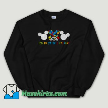 Cheap Autism Mickey Mouse It's Ok To Be Different Unisex Sweatshirt