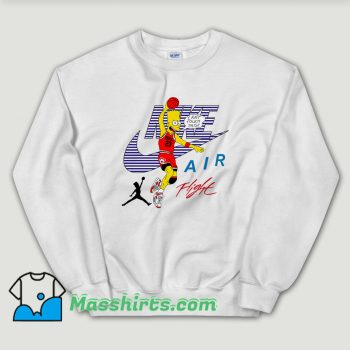 Cheap Bart Simpson Nike Air Flight Funny Sweatshirt