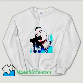 Cheap Billie Eilish Blue Aesthetic Unisex Sweatshirt