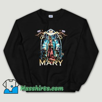 Cheap Black Rose Virgin Mary Unisex Sweatshirt