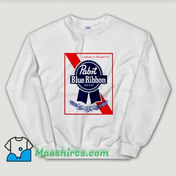 Cheap Blue Ribbon Pabst Beer Unisex Sweatshirt