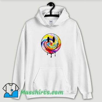Cool Acid Dripping Smiley Face Tie Dye Hoodie Streetwear