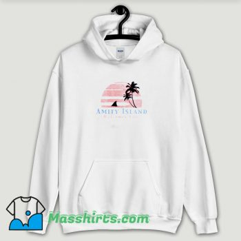 Cool Amity Island Welcomes You Jaws Hoodie Streetwear