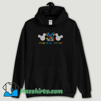 Cool Autism Mickey Mouse It's Ok To Be Different Hoodie Streetwear