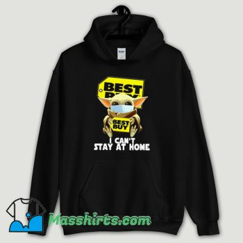 Cool Baby Yoda Face Mask Hug Best Buy I Can't Stay At Home Hoodie Streetwear