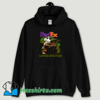 Cool Baby Yoda Fedex Survived Covid 19 Hoodie Streetwear