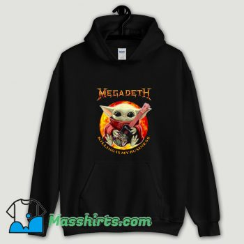 Cool Baby Yoda Hug Guitar Megadeth Killing Is My Business Hoodie Streetwear