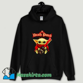 Cool Baby Yoda hug guitar Five Finger Death Punch Hoodie Streetwear