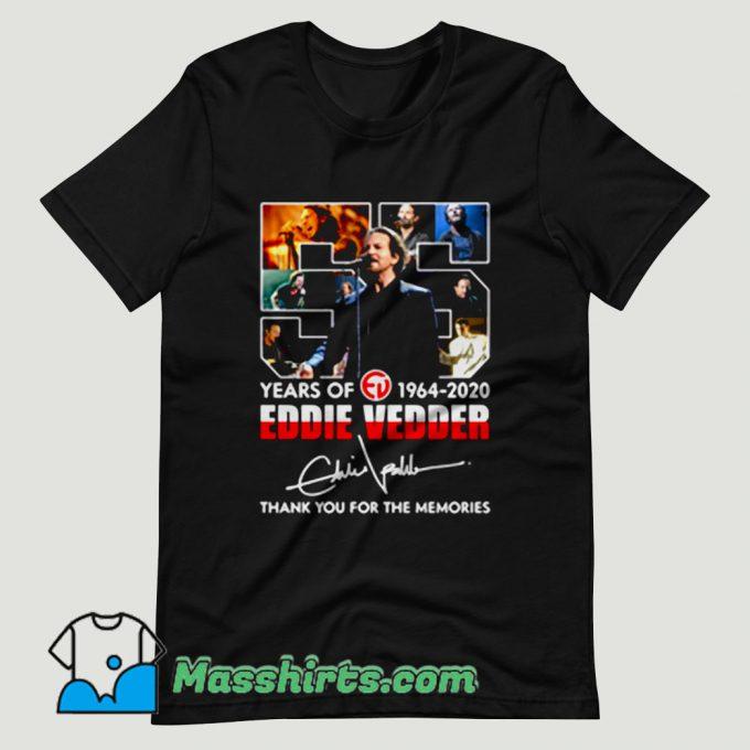 Eddie Vedder 55 Years Signature T Shirt Design