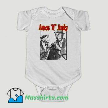 Funny 1940s Amos N Andy Comedy Show Baby Onesie