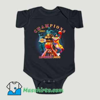 Funny 2001 Los Angeles Lakers Championship Baby Onesie