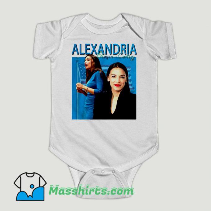 Funny Alexandria Ocasio Cortez Baby Onesie