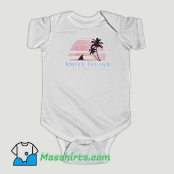 Funny Amity Island Welcomes You Jaws Baby Onesie
