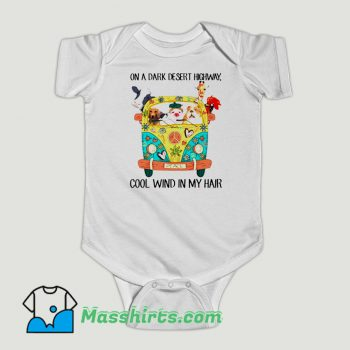 Funny Animals On A Dark Desert Highway Feel Cool Wind In My Hair Baby Onesie
