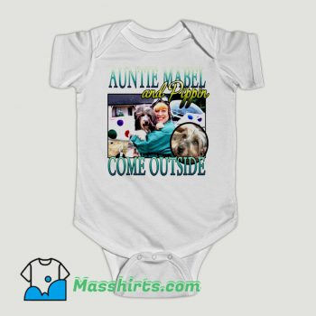 Funny Auntie Mabel And Pippin Baby Onesie