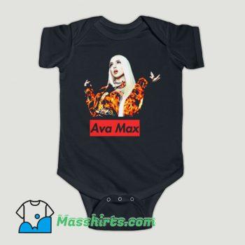 Funny Ava Max Singer Baby Onesie