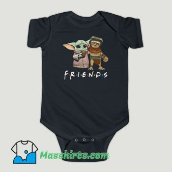 Funny Baby Babu Frik And Baby Yoda Friends Baby Onesie
