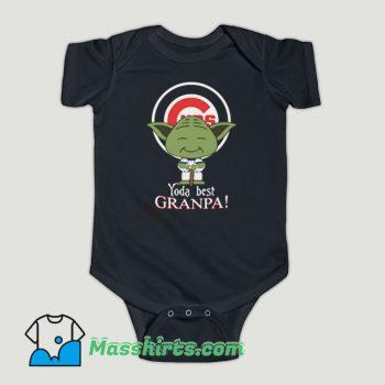 Funny Baby Yoda Chicago Cubs Best Grandpa Baby Onesie