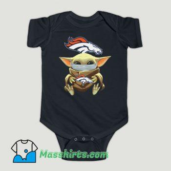 Funny Baby Yoda Face Mask Denver Broncos Baby Onesie