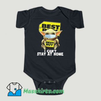 Funny Baby Yoda Face Mask Hug Best Buy I Can't Stay At Home Baby Onesie