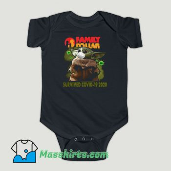 Funny Baby Yoda Family Dollar Survived Covid 19 Baby Onesie