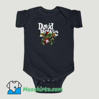 Funny Baby Yoda Hug Guitar David Bowie Baby Onesie