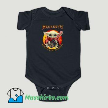 Funny Baby Yoda Hug Guitar Megadeth Killing Is My Business Baby Onesie