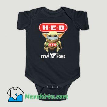 Funny Baby Yoda Hug HEB Baby Onesie