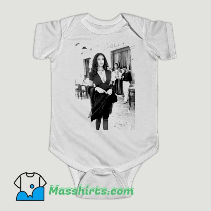 Funny Maria Grazia Cucinotta Lavazza Caffe Tripoli Baby Onesie