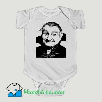 Funny The Munsters Grandpa Munster Dracula Baby Onesie