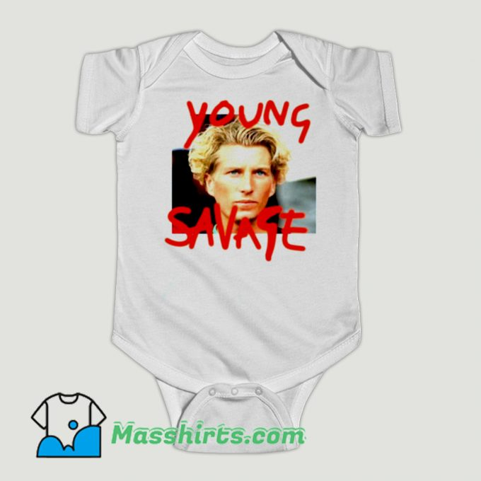 Funny Young Savage Baby Onesie